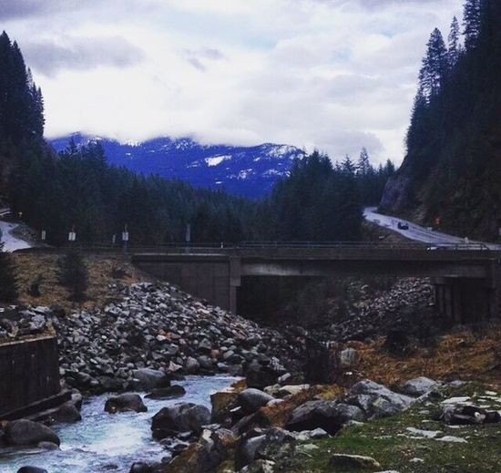 Nature River Mountain Curvy Road Beauty In Nature Cold Temperature EyeEmNewHere Snow Scenics Bridge Architecture Water Sky EyeEmNewHere