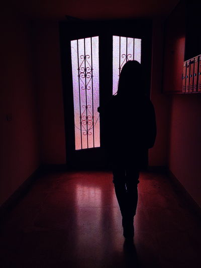 Neon Life Silhouette Indoors  One Person Window People Only Women Adult Spooky Shadow Adults Only One Woman Only Real People Women Human Body Part Day Young Adult Pink Lights Pink Lights Pink Lighting Pink Lighter Pink Color PINKY