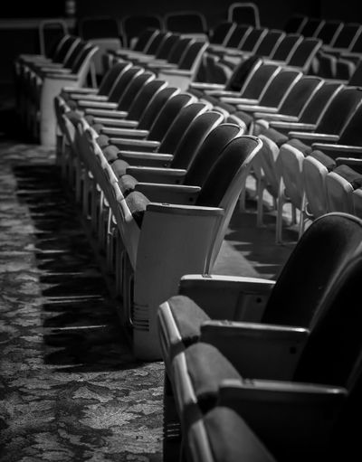 Empty chairs ritz theater