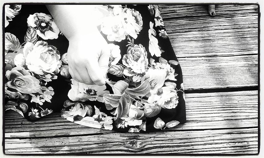 Adult Women One Person Day Young Adult Close-up Summer In The City Black & White Taking Photos Bridge View Bridge Flower