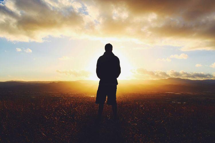 standing still Sunset Sunshine Sunset Silhouettes Golden Hour Shadows & Lights