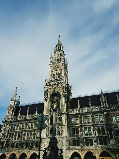 Marienplatz Politics And Government Clock Face Clock City Clock Tower Government Authority History Sky Architecture Gothic Style