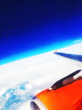 Airplane Flying Travel On The Move Blue Aerial View Sky Beauty In Nature