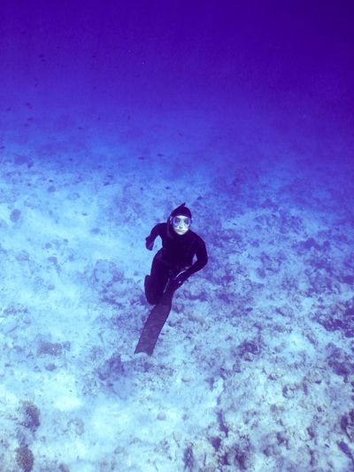 Me...in the deep blue Underwater Sea Scuba Diving Water Swimming Sport International Women's Day 2019 UnderSea One Person Exploration Aquatic Sport Diving Equipment Adventure Diving Flipper Diving Suit Lifestyles Leisure Activity International Women's Day 2019