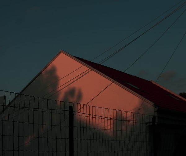 Sky No People Sunset Nature Fence Built Structure Barrier Architecture Boundary Low Angle View Protection Metal Outdoors Security Safety Net - Sports Equipment Building Exterior Dusk Sport Orange Color