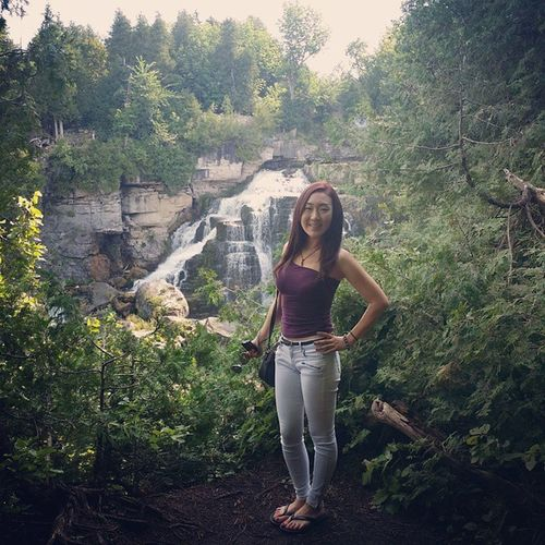 Oh, just me and the falls♡ Happy Nature Love Owensound inglisfalls
