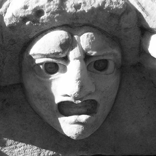 Stone faces in Turkey Stone Art Blackandwhite Old Buildings Close-up Face Of Stone fearful expression