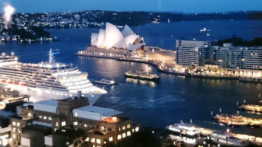 NightSydney, Australia City Architecture Sydney By Night Illuminated CityscapeWater City Life No People Opera House By Night Sydney Harbour Lights The City Light