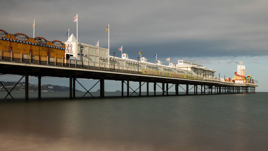 Pier Paignton Built Structure Sea Industry Architecture No People Day Water Outdoors Sky