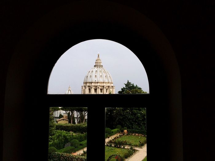St Peter Basilica Seen From Arch Window