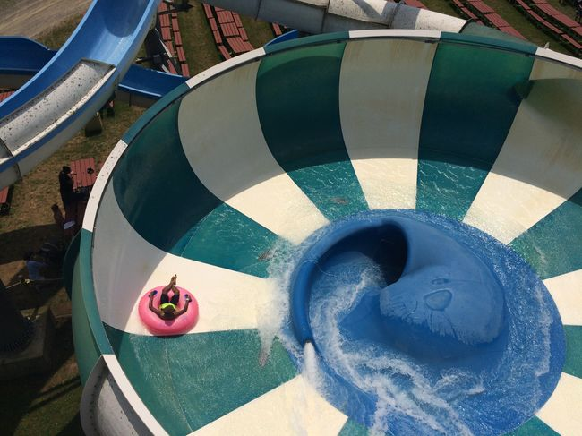 Art Circle Close-up Day Innertube Multi Colored No People Outdoors Stripes And Shadows Stripes Pattern Summer Fun Water Park Water Slides