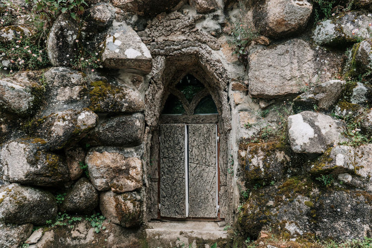 Monserrate Sintra Sintra Ancient Civilization Architecture Building Building Exterior Built Structure Entrance History Monserrate Old Rock - Object Stone Material Stone Wall The Past Wall Wall - Building Feature Window Windows