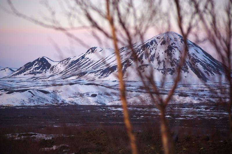 View from dimmuborgir lava fileds