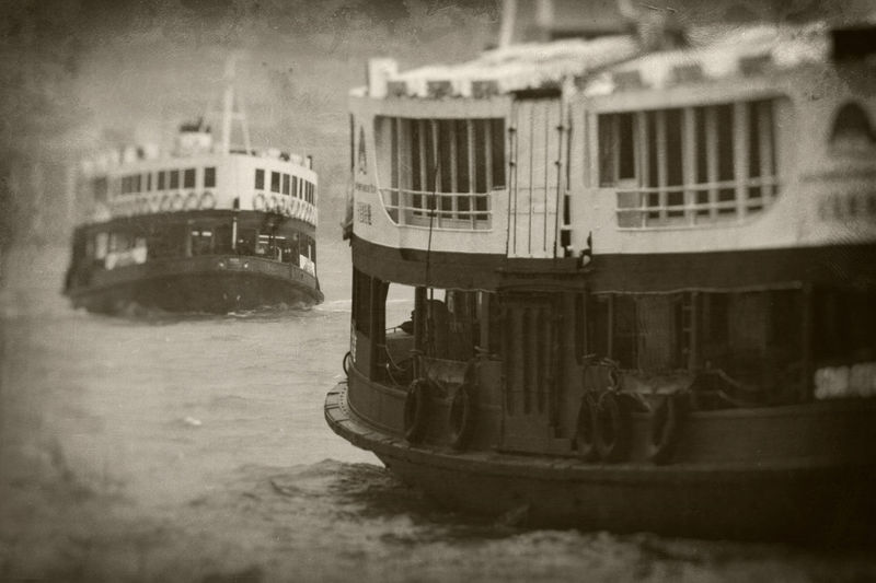 Star Ferry, Hong Kong. The historic Star Ferry makes the crossing from Kowloon to the Central district on Hong Kong Island. It is still the cheapest fun you can have in the worlds most expensive city. Twenty cents for the lower deck, twenty five cents for the upper deck. What a deal. Blackandwhite Central China Commute Commuting Day Ferry Ferry Boat Harbor Historic History Hong Kong Kowloon Marine Nautical Vessel No People Outdoors Star Ferry Transportation Travel Travel Destinations Vintage Water