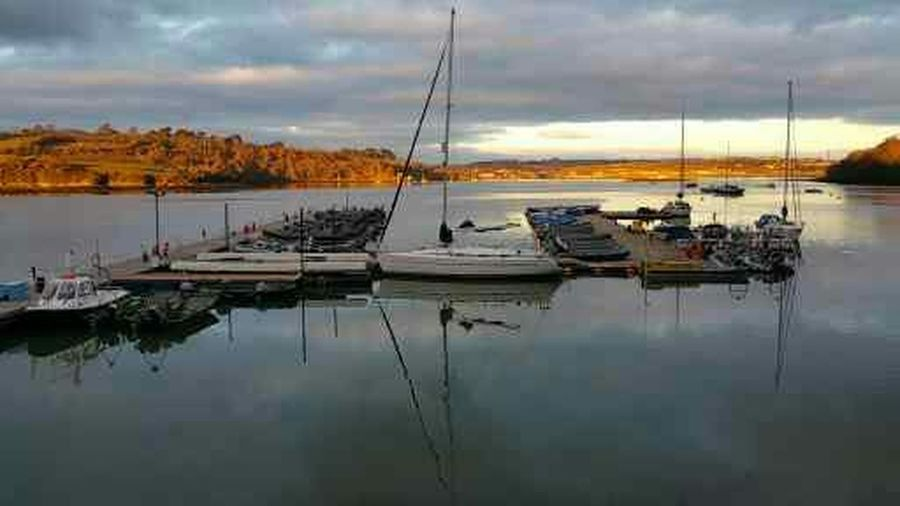 Torpoint ferry road Reflection Water Moored Sky Sailboat Outdoors Reflection Lake Tranquility Yacht