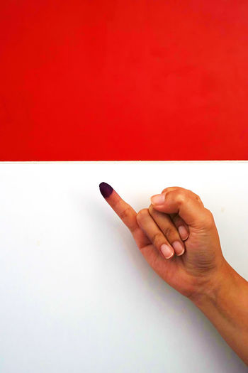 Indonesia Election Day 2019 Human Hand Hand Human Body Part One Person Body Part Human Finger Finger Communication Hand Sign Election Election Day INDONESIA Indonesia Election Indonesia Election Day 2019