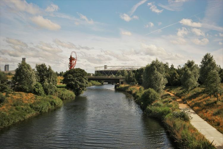 East London Lee Valley Olympic Park  River Stratford Water