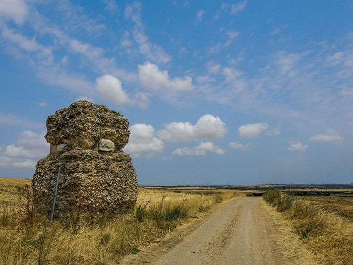 Ancient Roman ruins near San Paolo di Civitate (Puglia-Italy) Cloud - Sky Clouds Clouds And Sky Day EyeEmNewHere Grass Landscape Nature No People Outdoors Roman Ruines Roman Ruins Sky