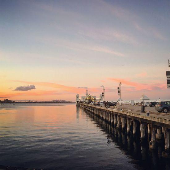 Water Sky Sunset Sea Pier Cloud - Sky Transportation First Eyeem Photo