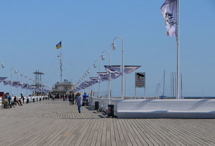 Pier Beach Clear Sky Day Leisure Activity No People Outdoors Sea Sky Sobot Pier Sobotka Travel Destinations