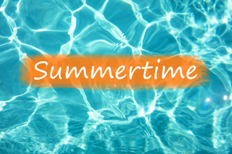 """Detail of word """"Summertime"""" on swimming pool water and sun reflecting on the surface. Freshness Fun Holiday Holidays Postcard Reflection Summertime Summertime ♥ Swimming Text Background Backgrounds Blue Communication Enjoyment Fresh Leisure Activity Relax Relaxation Summer Swimming Pool Text Wallpaper Water"""