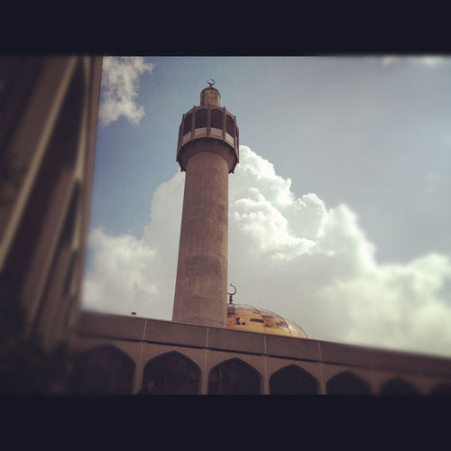 Architecture Building Exterior Built Structure Cloud - Sky Day London Central Mosque Low Angle View Masjid Mosque No People Outdoors Sky Tower