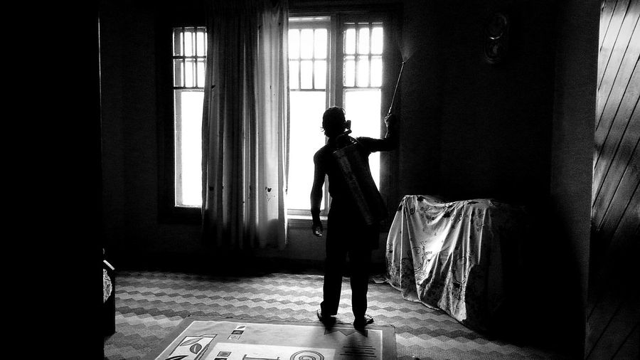 The Human Condition Blackandwhite Cleaning Human Darkness And Light Let's Do It Chic! The Action Photographer - 2015 EyeEm Awards Home Creative Light And Shadow Silhouette