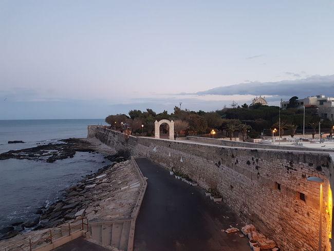 Trani Tranibynight S7flat Cattedrale Yellaspuglia Visititalia Italy Apuglia Sand Beach Water Sky Sea Outdoors No People