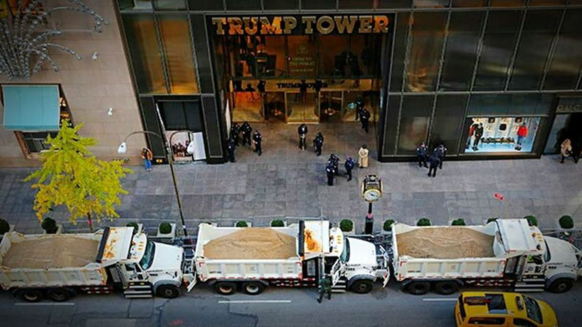 Trump Tower Trump Security American Donald Trump Donald Trump Is A Joke Donaldtrump Donaldtrumpsucks Outdoors Transportation American Style Clinton Campaign Clinton Hillary Clinton Hillary