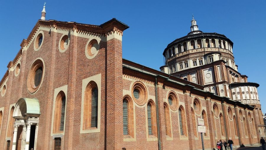 Arch Architecture Building Exterior Built Structure Cenacolo Vinciano City Clear Sky Day History Leonard Low Angle View Milan Milano No People Outdoors Place Of Worship Santa Maria Delle Grazie Sky Tourism Travel Travel Destinations