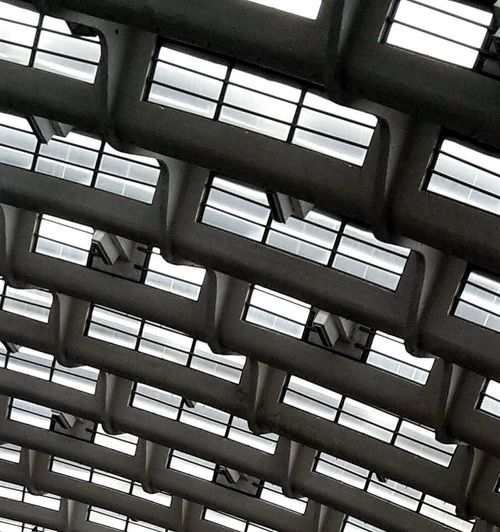 Architecture Ceiling Indoors  Built Structure Repetition Architectural Feature Full Frame Building Story Turin Italy Exposition Center Windows Architecture_collection The Graphic City