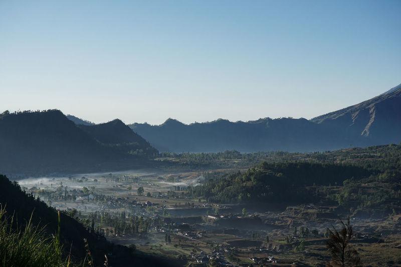 Beauty In Nature Foggy Landscape Foggy Morning Landscape Morning Mountain Nature No People Outdoors Scenics Village