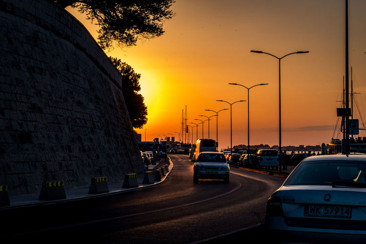 Sunset Croatia ❤ Zadar Zadar Sunset Zadar,Croatia Architecture Building Exterior Built Structure Car City Land Vehicle Mode Of Transportation Motor Vehicle Nature No People Orange Color Outdoors Road Sky Street Street Light Sunset Transportation Tree Water Zadar Old Town