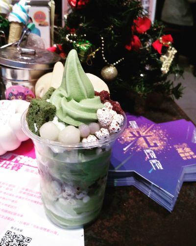抹茶聖代 抹茶 屏東 三埢半 Taiwan Pingtung City 蔓蔓食光 Yummy!