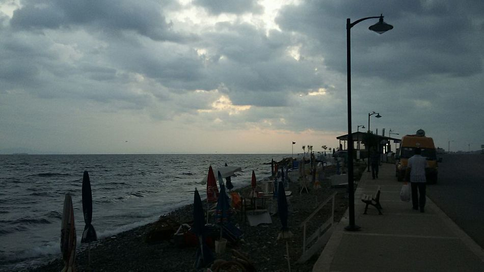 Sea Beach Travel Destinations Sunset Sky Cloud - Sky Tourism Vacations Large Group Of People Horizon Over Water People Adult City Outdoors Cityscape Cinarciksahil Yalovasahili Turkey Nature Day Adults Only