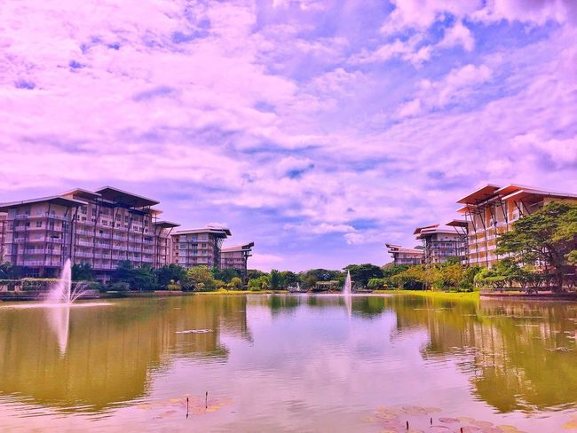 Beautiful ☺ Architecture Building Exterior Reflection Built Structure Water Sky Waterfront Travel Destinations Travel City Outdoors Cloud - Sky River Day No People Cityscape Nature