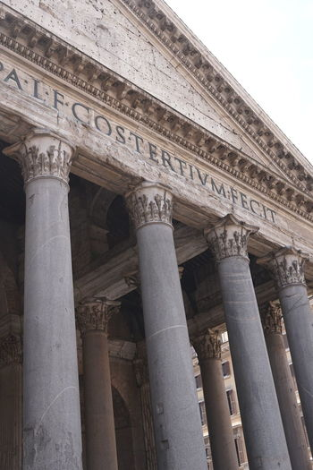 Pantheon Ancient Ancient Civilization Architectural Column Architecture Building Exterior Built Structure Colonnade History Neo-classical No People Old Pantheon Rome Pantheon Rome Rome Place Of Worship Temple The Past Tourism Travel Travel Destinations