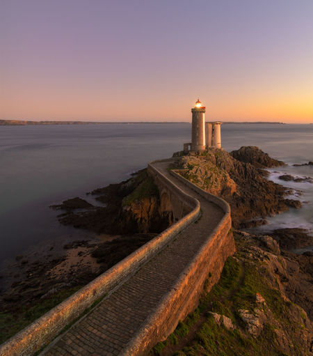 Le Petit Minou just after sunset Bretagne Brittany France Beauty In Nature Bretagnetourisme Building Exterior Colorful Horizon Horizon Over Water Lighthouse Nature No People Scenics Sea Sunset Sunsets Water