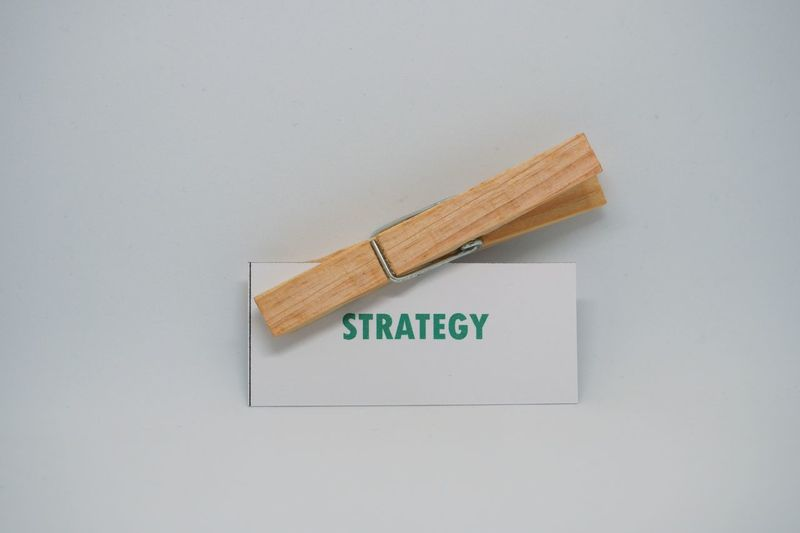 Strategy word in white background Strategy Target Concept Business Finance And Industry Business Word Marketing Banner Tag Backgrounds Motivation Education White Background Isolated Wood Planning Something Goal Investment Finance Loan  Cleaning Hygiene No People Indoors  Close-up Day