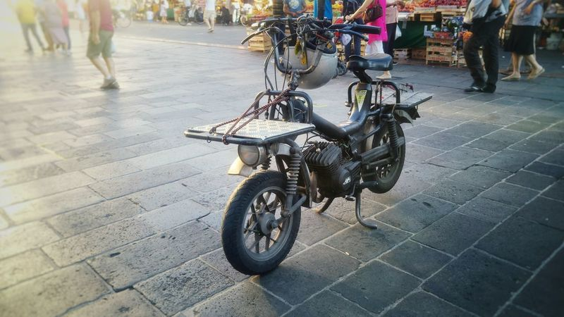 Old Motorbike Moped Vintage Vintage Motorcycles Italian Quirky Weird Transportation Vehicle Mode Of Transport