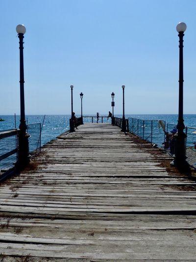 Wideness Impression Beach Seaside Sea Water Sky Pier
