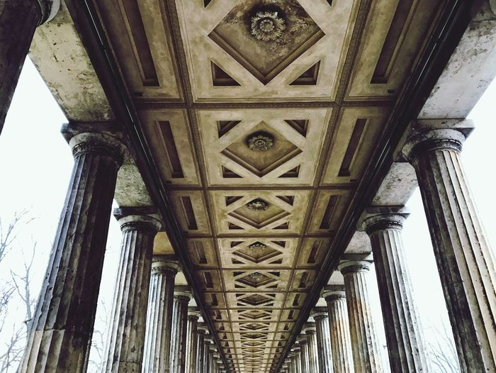 Museumsinsel. Low Angle View Architecture Built Structure No People Outdoors Berlin Berlin Photography Berlin Mitte Museum Altenationalgalerie Pergamon Column Museumsinsel Museum Island Berlin Street Photography Travel Destinations Travel Photography