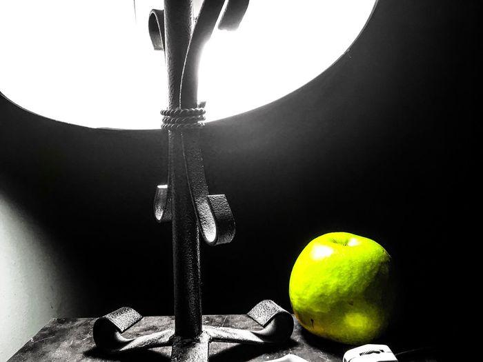 Apple Blackandwhite Indoors  Night Lights Nightphotography