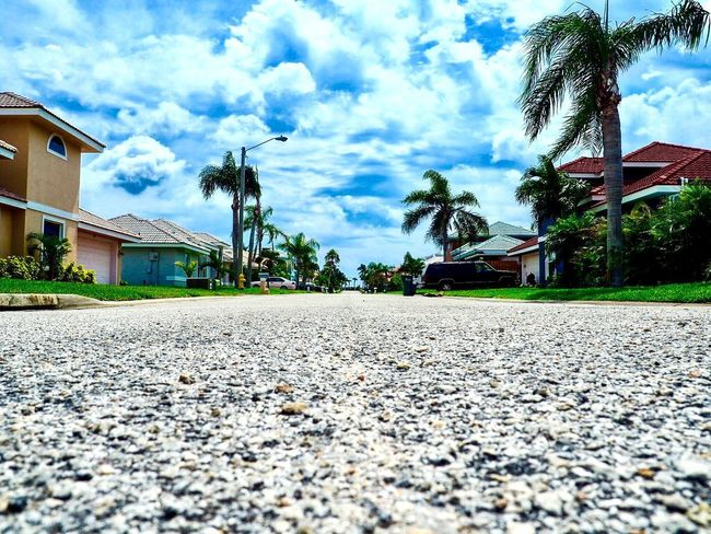 Built Structure Building Exterior Architecture House Cloud - Sky Sky Transportation Palm Tree Day Tree No People Outdoors Florida Melbourne Beach Sandy Shoes Street Indian River EyeEm Selects