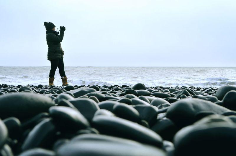 On the rocks.