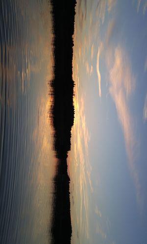 Bavaria Chiemsee Idyllic Landscape Reflection Sky Sunset Water