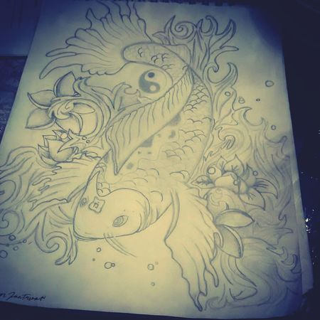 This what i was feeling Check This Out Taking Photos Art Koi Fish Himm <3  Art, Drawing, Creativity Hi!