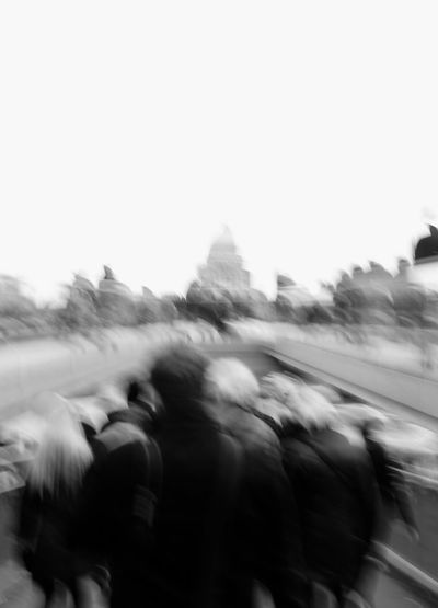 Rush Hour Men And Women In Black Rat Race (176/365) London Blackandwhite Blurred Motion Group Of People Large Group Of People Rat Race