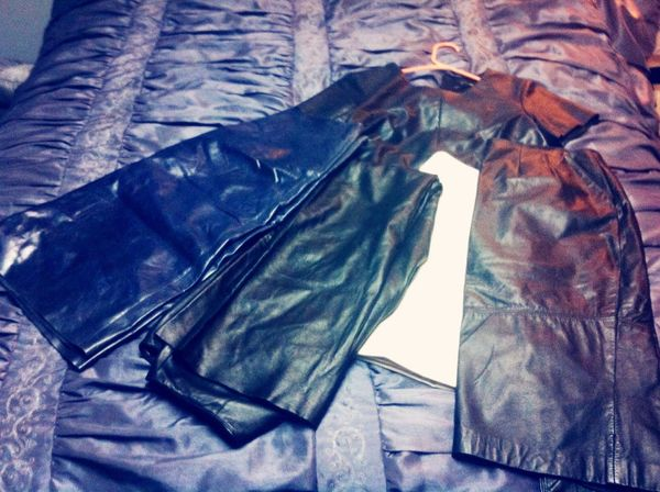 Leather, leather or pleather..no matter what it is, spice up your wardrobe Canthavetoomany Mycloset Mystyle MyLook