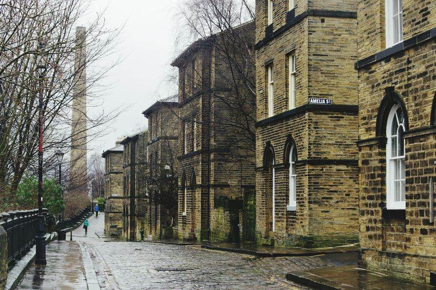 Built Structure Architecture Building Exterior Outdoors No People City Tree Day Sky EyeEm Best Shots View Tranquil Scene POV Rainy Day Saltaire Landscape Photography Scenics Mill Town Bradford Cobbled Streets Idyllic Chimney Landscapes Tranquility Wet
